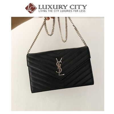 [Luxury City] Pre-Loved YSL Black Caviar Woc