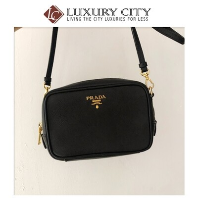 [Luxury City] Preloved Prada Mini Zip-Top Crossbody Bag