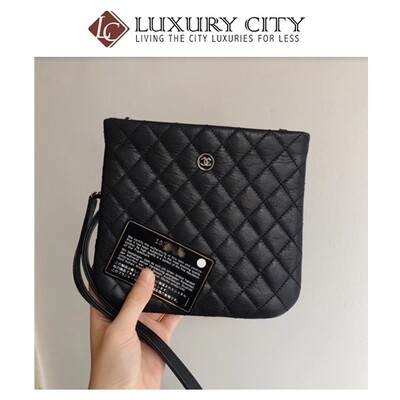 [Luxury City] Pre-Loved Channel Calf Leather Slim Bag