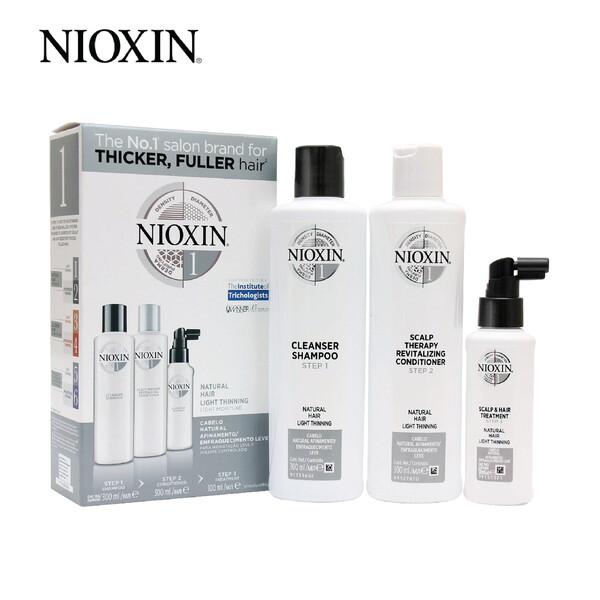 Nioxin System 1 Super Value Trial Kit including Shampoo 300ml Conditioner 300ml Treatment 100ml