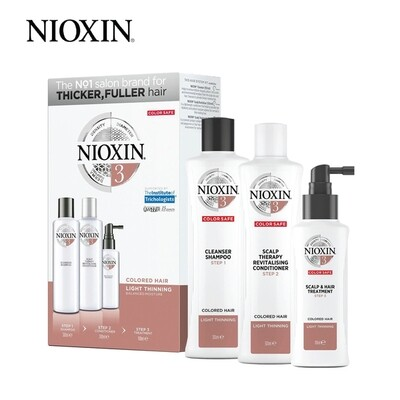 Nioxin System 3 Super Value Trial Kit including Shampoo 300ml Conditioner 300ml Treatment 100ml