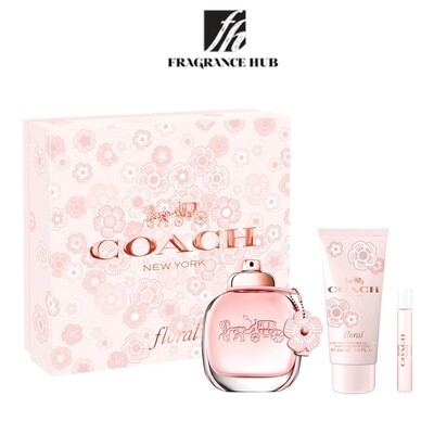 Coach Floral Women Gift Set EDP 100ml (By: Fragrance HUB)