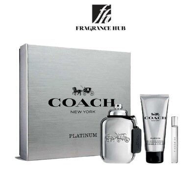 Coach Platinum Gift Set EDP 100ml Men (By: Fragrance HUB)