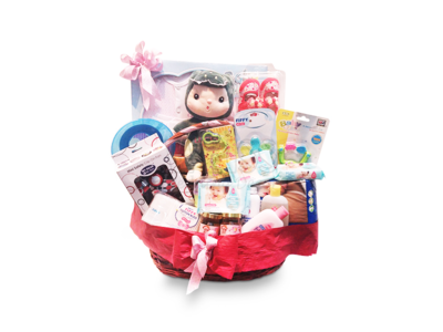 New Baby Gift Basket (By: Weiss Flora & Gift From JB)