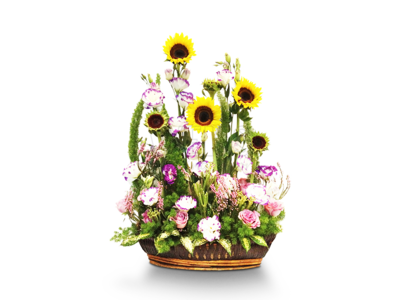 Flowers Basket (By: Weiss Flora & Gift From JB)