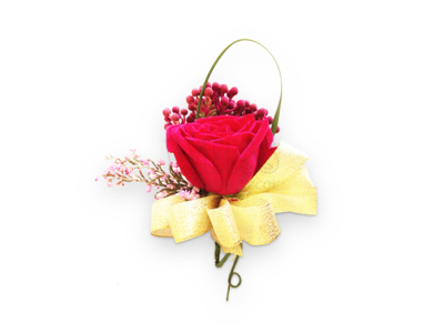Classic Red Corsage (By: Weiss Flora & Gift From JB)
