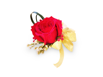 Red Rose Corsage (By: Weiss Flora & Gift From JB)