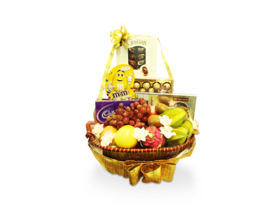 Premium Fruits & Gourmet Basket (By: Weiss Flora & Gift From JB)