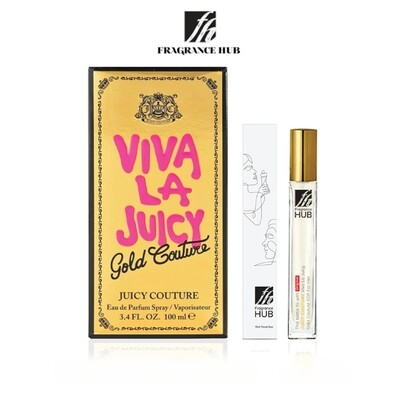 Juicy Couture Viva La Juicy Gold EDP Lady 10ML Travel Size Perfume (Refill by Fragrance HUB) 🎁 FREE FH 15% Discount Voucher!
