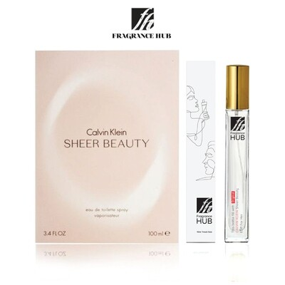 Calvin Klein cK Sheer Beauty EDP Lady 10ML Travel Size Perfume (Refill by Fragrance HUB) 🎁 FREE FH 15% Discount Voucher!