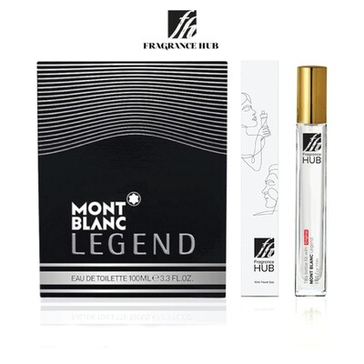 Mont Blanc Legend EDT Men 10ML Travel Size Perfume (Refill by Fragrance HUB) 🎁 FREE FH 15% Discount Voucher!