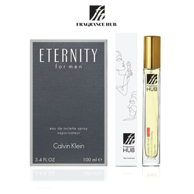 Calvin Klein cK Eternity  EDT Men 10ML Travel Size Perfume (Refill by Fragrance HUB) 🎁 FREE FH 15% Discount Voucher!