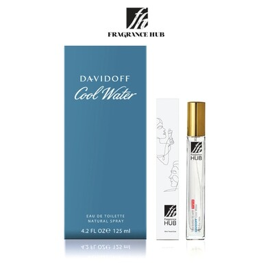 Davidoff Cool Water EDT Men 10ML Travel Size Perfume (Refill by Fragrance HUB) 🎁 FREE FH 15% Discount Voucher!