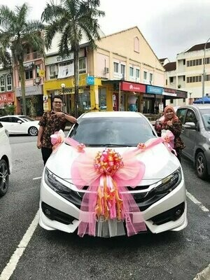 Bridal Car Big Ribbon Bow #1 (By:Temptation Florist from Seremban)
