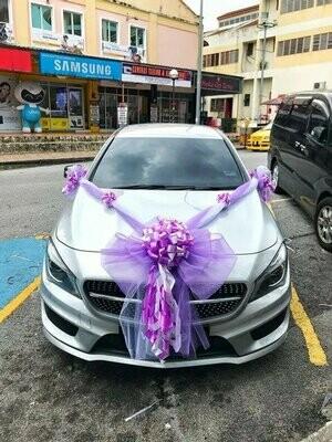 Bridal Car Big Ribbon Bow #4 (By:Temptation Florist from Seremban)