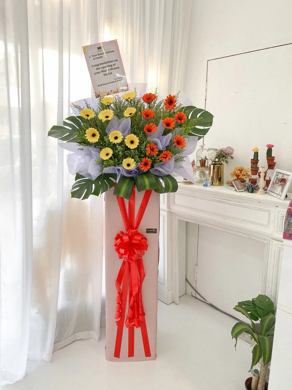 Warmest Grand Opening Flower Stand (By: Temptation Florist from Seremban)