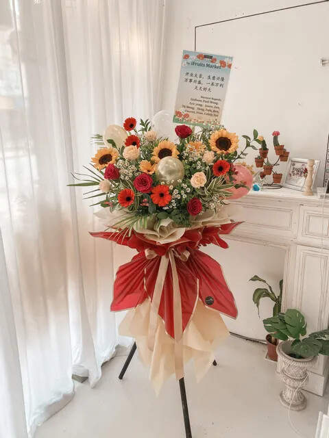 Taccy Grand Opening Flower Stand (By: Temptation Florist from Seremban)