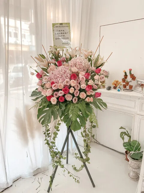 Congratulations Grand Opening Flower Stand (By: Temptation Florist from Seremban)