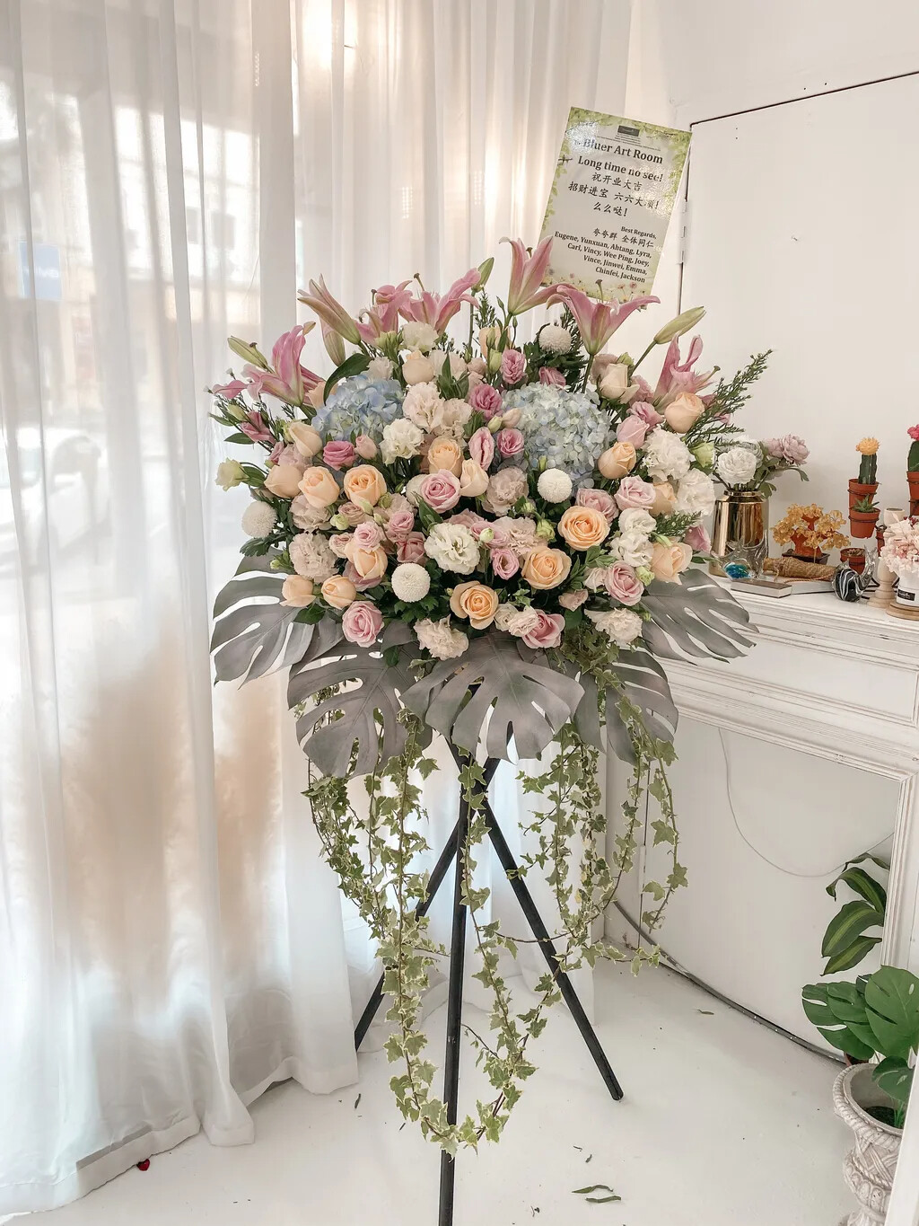 Mikoy Opening Flower Stand (By: Temptation Florist from Seremban)