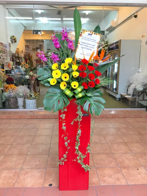 Greeting Grand Opening Flower Stand (By: Temptation Florist from Seremban)
