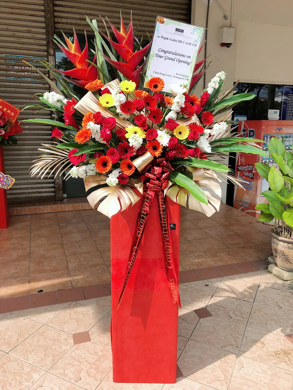 Moments Grand Opening Flower Stand (By: Temptation Florist from Seremban)