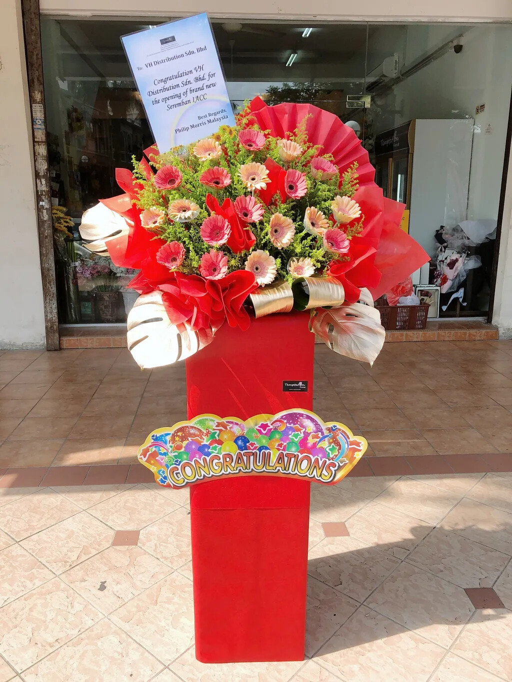 Gongxi Grand Opening Flower Stand (By: Temptation Florist from Seremban)