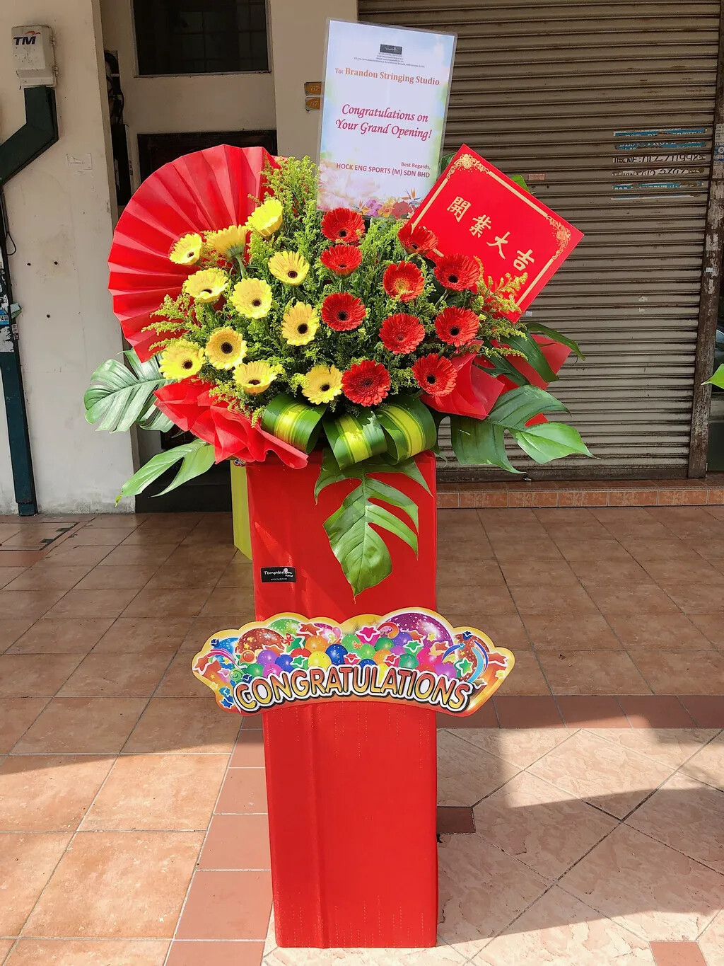 Flash Grand Opening Flower Stand (By: Temptation Florist from Seremban)