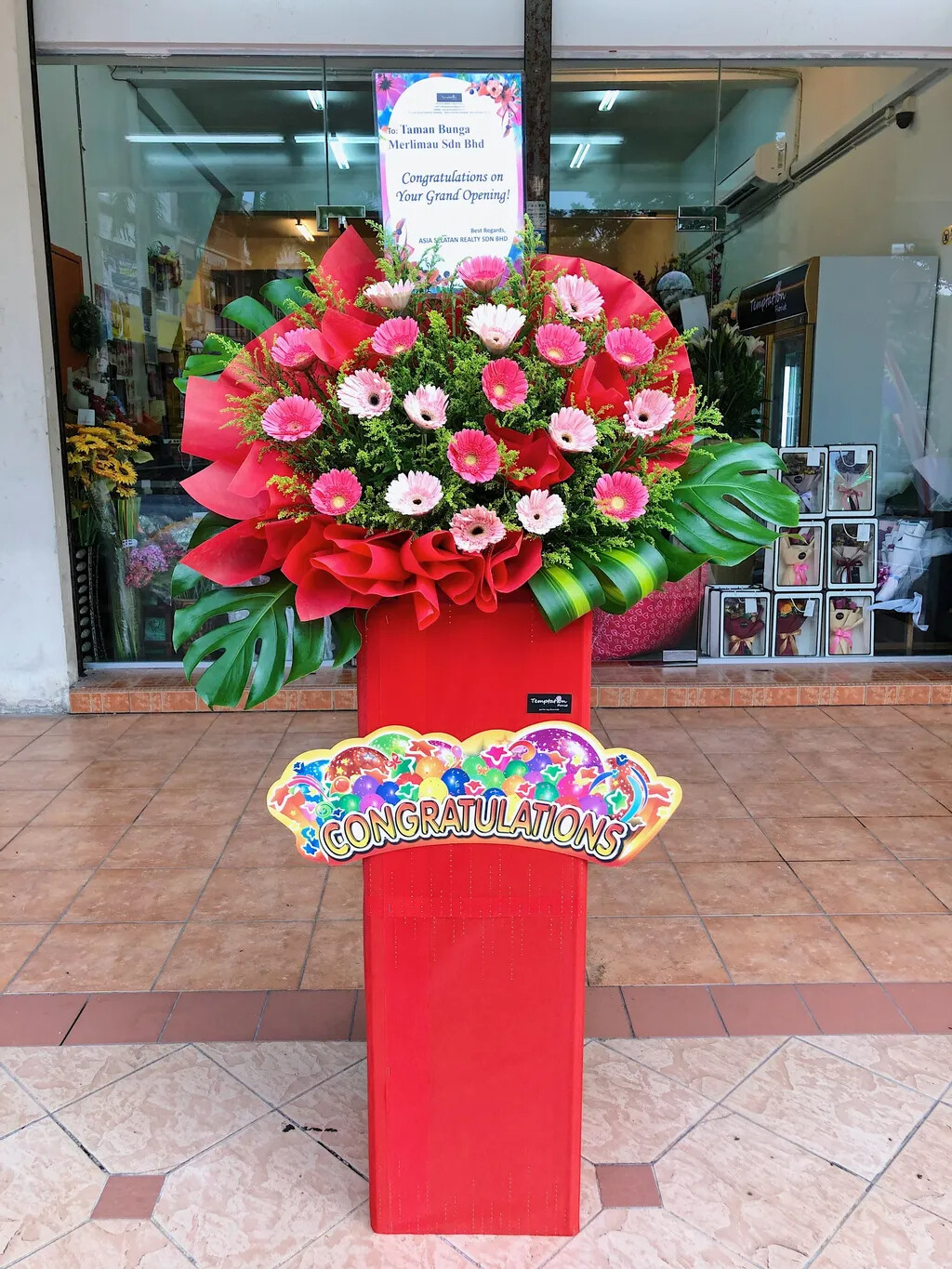 Faluros Grand Opening Flower Stand (By: Temptation Florist from Seremban)