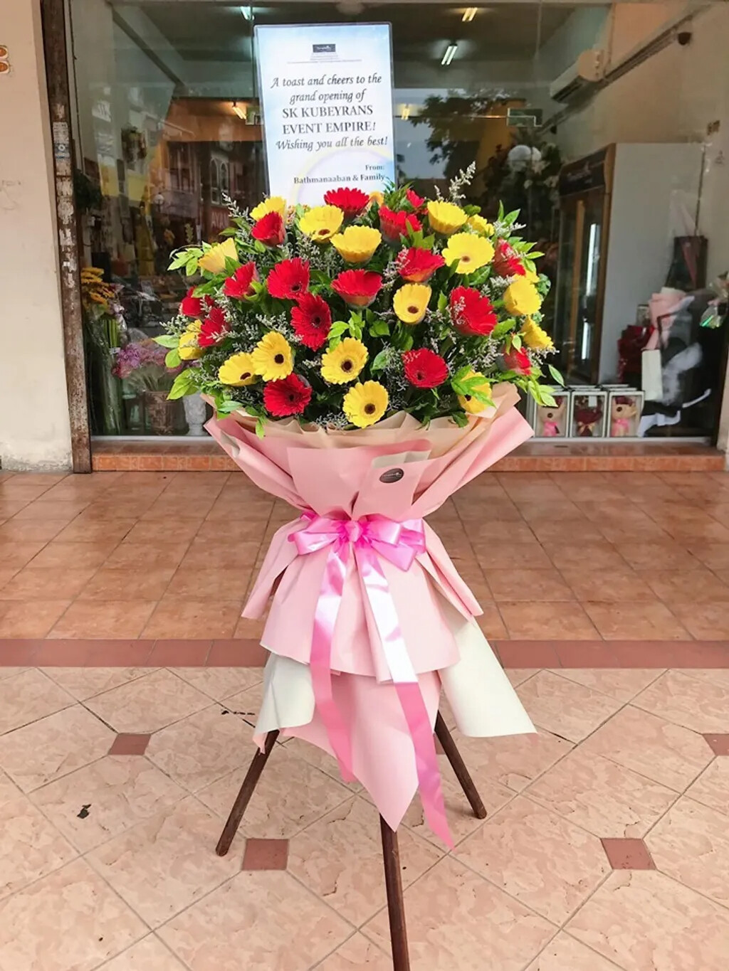 Ong Huat Opening Flower Stand (By: Temptation Florist from Seremban)