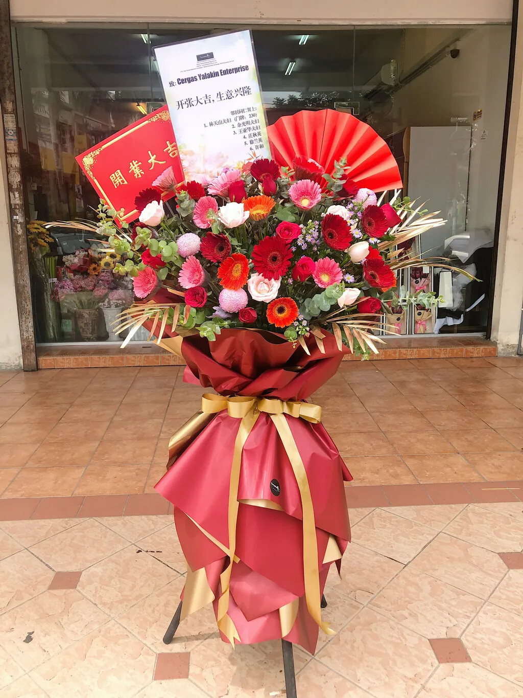Fabulous Grand Opening Flower Stand (By: Temptation Florist from Seremban)