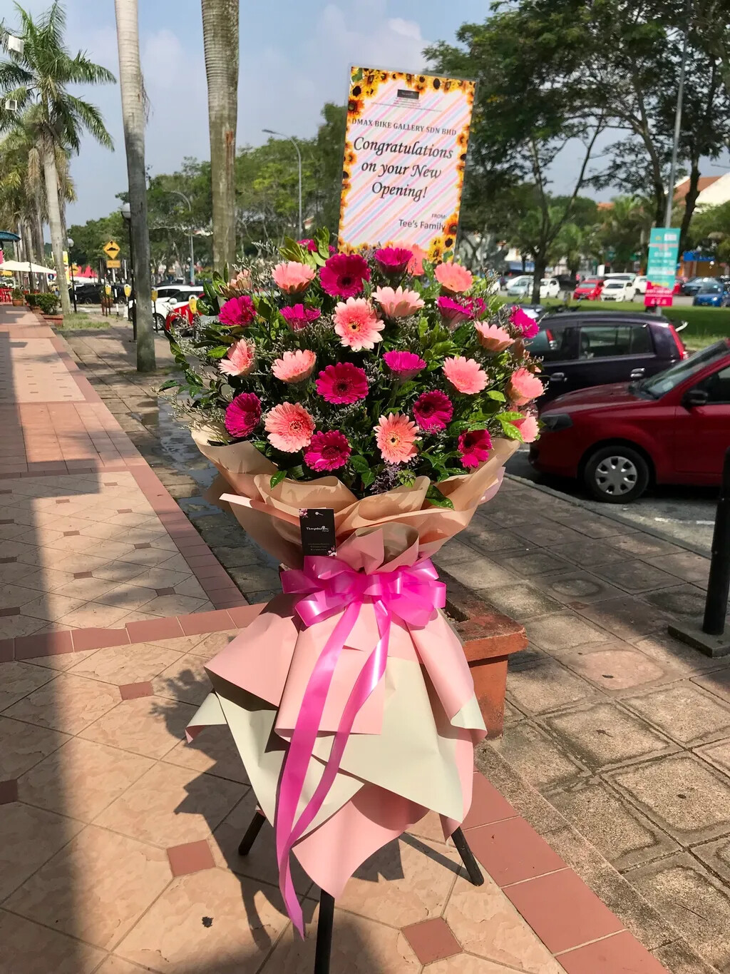 Sweet Bloom Grand Opening Flower Stand (By: Temptation Florist from Seremban)