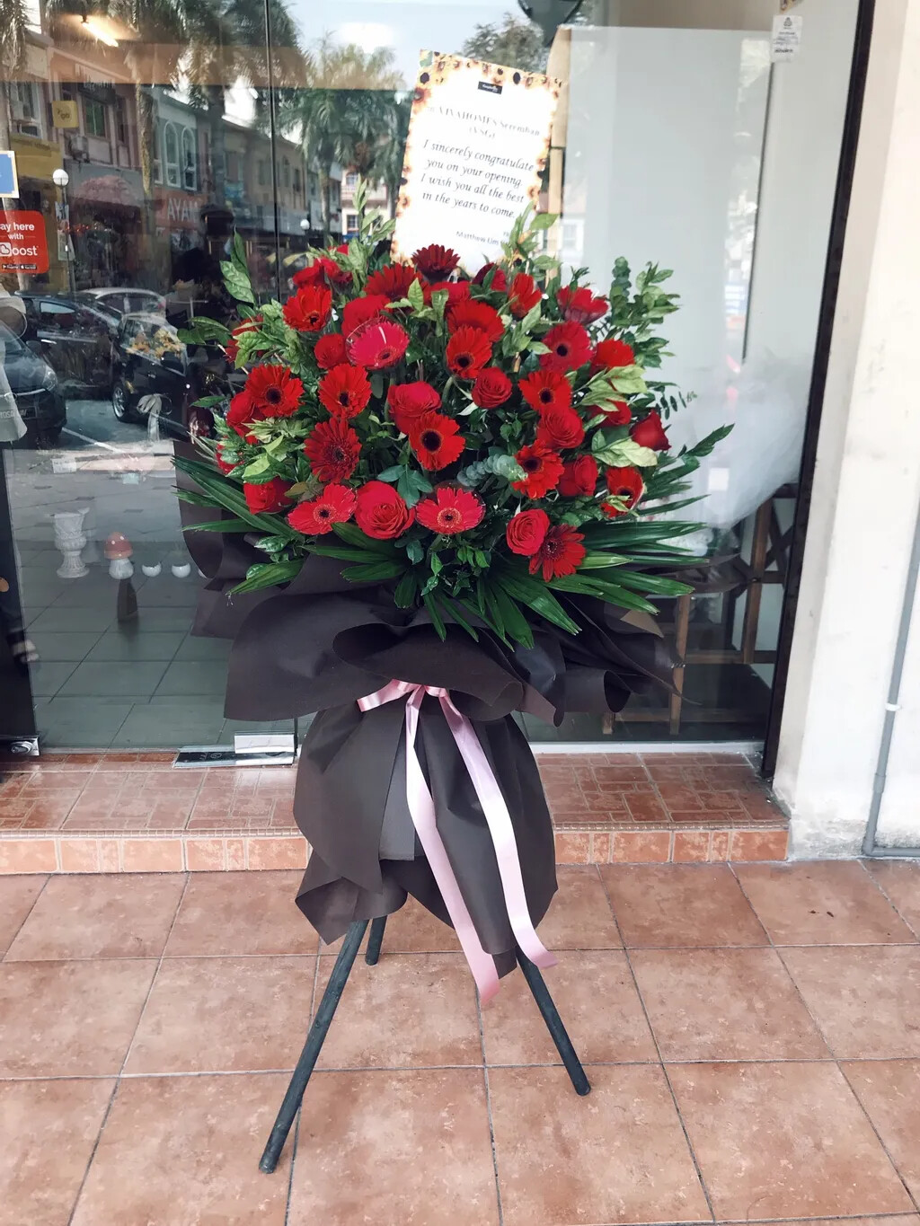 Prosperous Opening Flower Stand (By: Temptation Florist from Seremban)