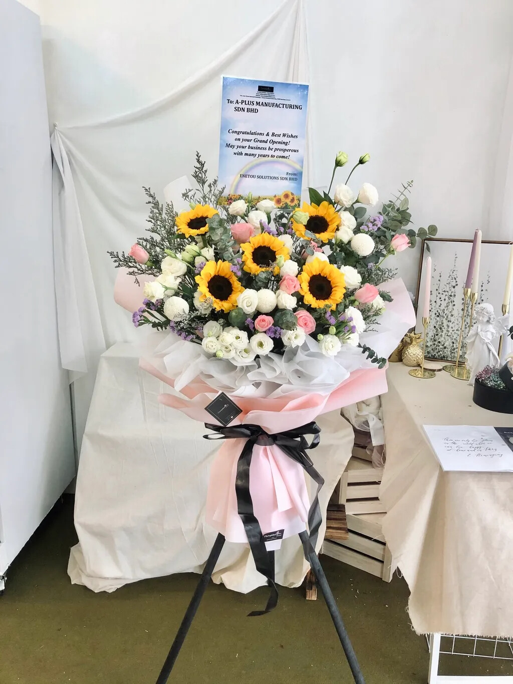 Sunshine Grand Opening Flower Stand (By: Temptation Florist from Seremban)