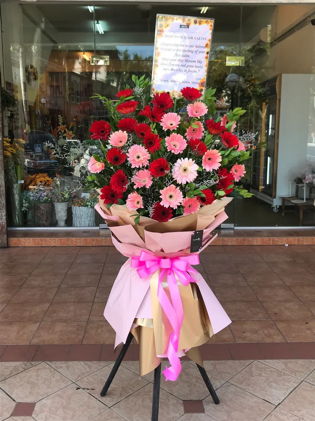Bloommy Grand Opening Flower Stand (By: Temptation Florist from Seremban)