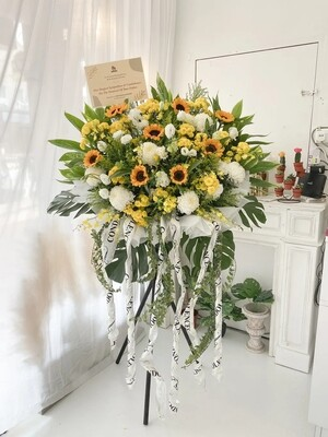 Froze Condolence Flower Stand (By: Temptation Florist from Seremban)