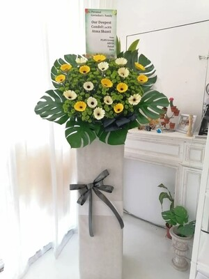 Seraphiel Condolence Flower Stand (By: Temptation Florist from Seremban)