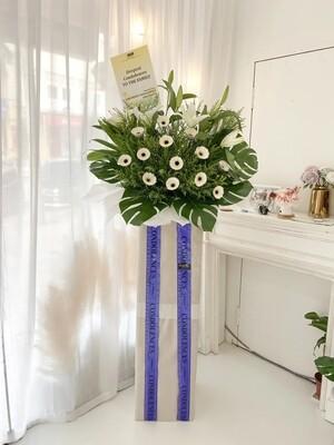 Hussa Condolence Flower Stand (By: Temptation Florist from Seremban)