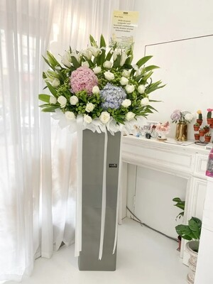 Sodos Condolence Flower Stand (By: Temptation Florist from Seremban)