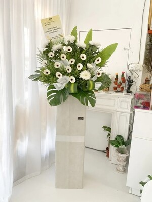 Greens Condolence Flower Stand (By: Temptation Florist from Seremban)