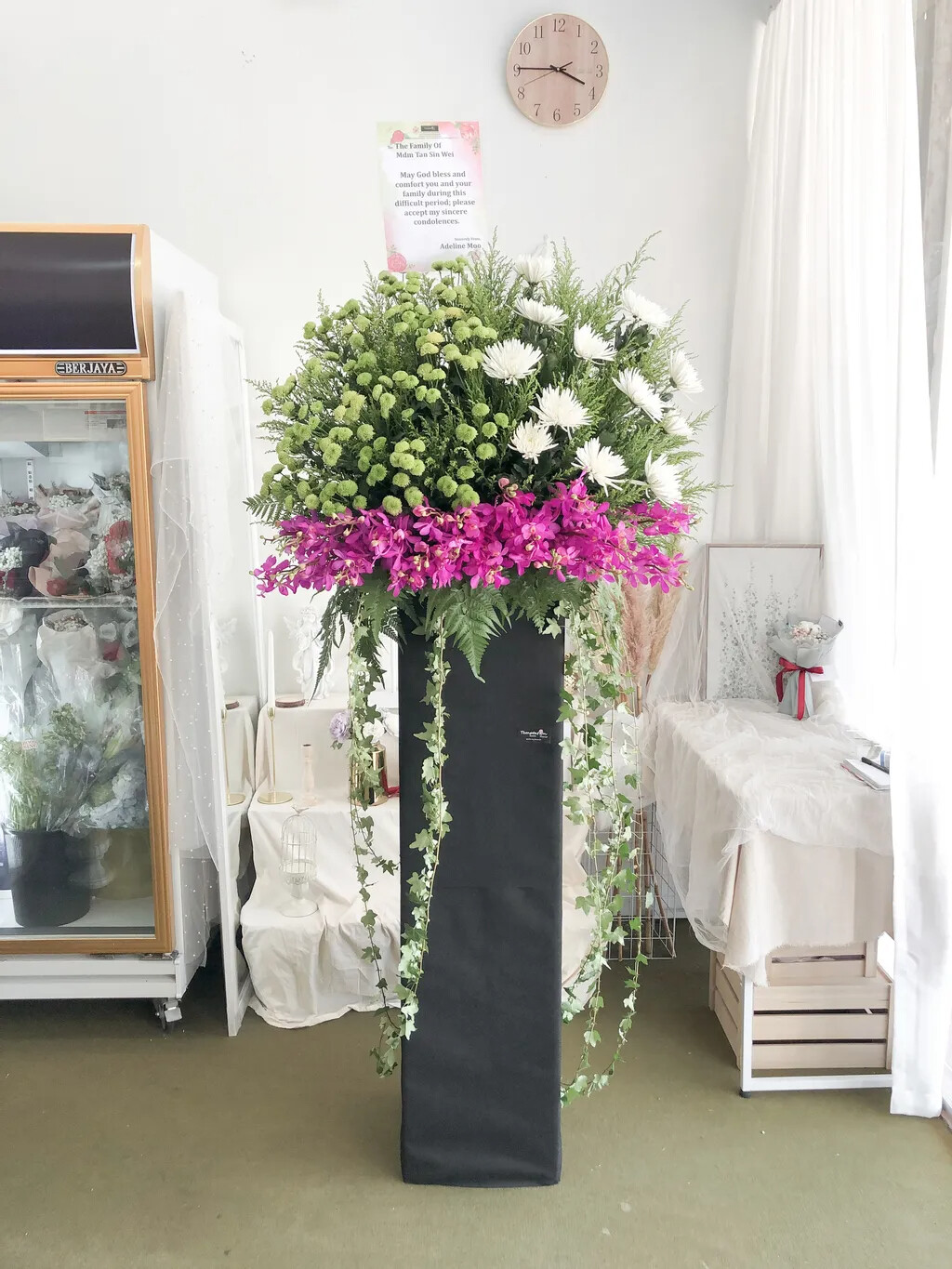 Wremie Condolence Flower Stand (By: Temptation Florist from Seremban)