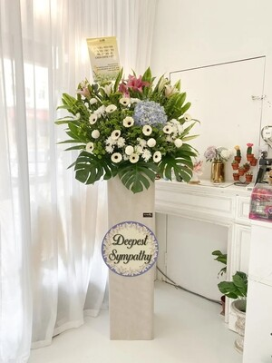Mous Condolence Flower Stand (By: Temptation Florist from Seremban)