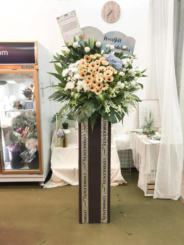 Laurel Condolence Flower Stand (By: Temptation Florist from Seremban)