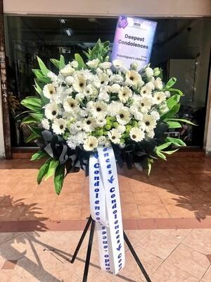 Gentle Condolence Flower Stand (By: Temptation Florist from Seremban)
