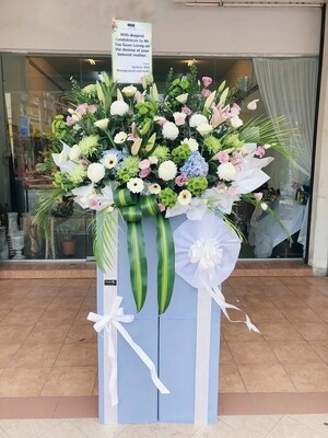 Warmest Respect Condolence Flower Stand (By: Temptation Florist from Seremban)