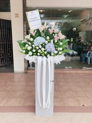 Deeply Miss Condolence Flower Stand (By: Temptation Florist from Seremban)