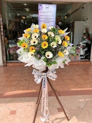 Yallous Condolence Flower Stand (By: Temptation Florist from Seremban)