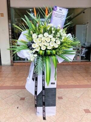Meanes Condolence Flower Stand (By: Temptation Florist from Seremban)