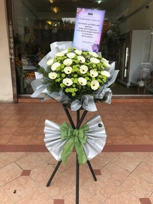 Sympathy Condolence Flower Stand (By: Temptation Florist from Seremban)