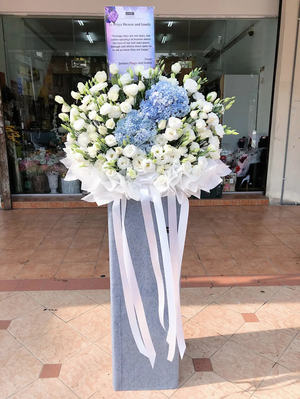 Eus Bianca Condoleces Flower Stand (By: Temptation Florist from Seremban)