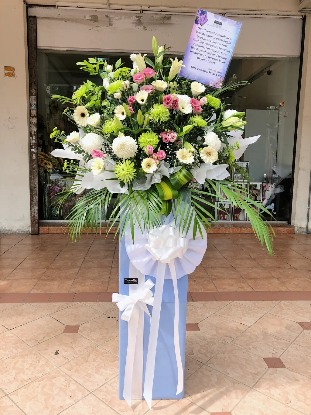 Providence Condolence Flower Stand (By: Temptation Florist from Seremban)